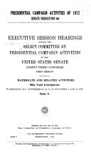 Presidential Campaign Activities of 1972, Senate Resolution 60: Milk fund investigation