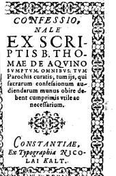 Confessionale ex scriptis sumptum (etc.) - Constantiae, ex typographia Nicolai Kalt 1596. 114 S., (1) Bl
