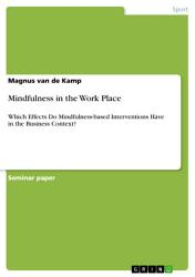 Mindfulness In The Work Place Book PDF