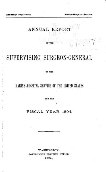 Download Report of the Federal Security Agency  Public Health Service Book