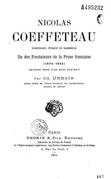 Download Nicolas Coeffeteau Dominicain    v  que de Marseille Book
