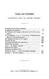 Études de philosophie morale et d'économie politique: Volume2