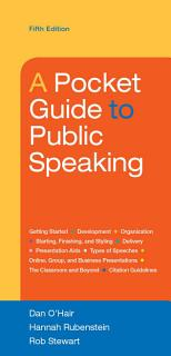 A Pocket Guide to Public Speaking Book