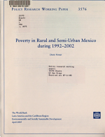 Poverty in Rural and Semi urban Mexico During 1992 2002 PDF