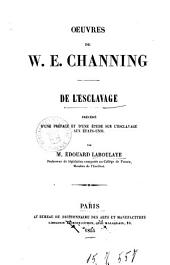 Oeuvres de W. E. Channing: De l'esclavage