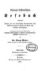 Literar historisches Lesebuch  enthaltend Proben aus den bedeutendsten Literaturwerken alter V  lker und Zeiten  in Poesie und Prosa  nach deutschen Uebersetzungen PDF