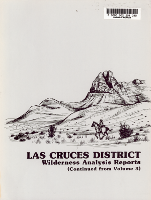 New Mexico Statewide Wilderness Study  Appendices  wilderness analysis reports  Las Cruces and Roswell Districts  PDF