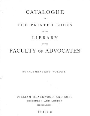 Catalogue of the Printed Books in the Library of the Faculty of Advocates  finished by Jon  A  Hjaltalin  and T  H  Jamieson  PDF