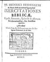 Exercitationes Biblicae ...