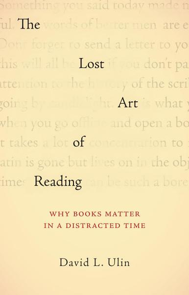 Download The Lost Art of Reading Book