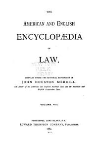 The American and English Encyclop  dia of Law  Fires by railway to Grandchild PDF