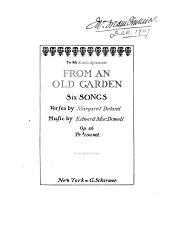From an Old Garden: Six Songs, Op. 26
