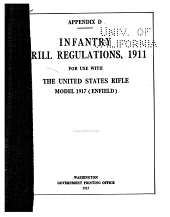 Infantry Drill Regulations, 1911, for Use with the United States Rifle, Model 1917 (Enfield)