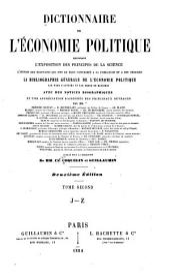 Dictionnaire de l'économie politique: Volume2