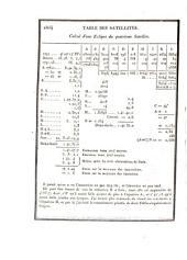 Tables écliptiques des satellites de Jupiter: d'après la théorie de M. le Marquis de Laplace, et la totalité des observations faites depuis 1662 jusqu'à l'an 1802