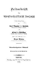 Zeitschrift für wissenschaftliche Zoologie: Band 30