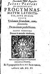 Progymnasmatum latinitatis sive dialogi: Volume 2