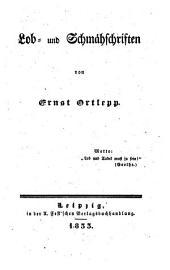 Lob- und Schmähschriften