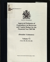 Approved Estimates of Expenditure on Recurrent and Capital Budget for the Financial Year     PDF