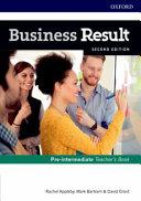 Business Result Pre Intermediate Teachers Book Dvd Pack PDF