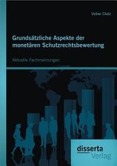 Grundsätzliche Aspekte der monetären Schutzrechtsbewertung: Aktuelle Fachmeinungen