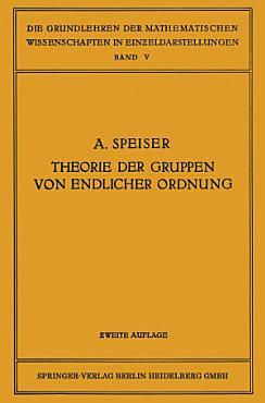 Die Theorie der Gruppen von Endlicher Ordnung PDF