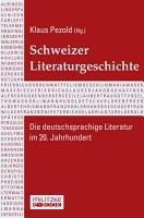 Schweizer Literaturgeschichte PDF