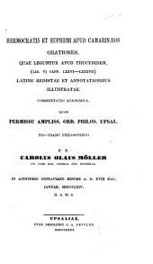 Hermocratis et Euphemi apud Camarinaeos orationes quae leguntur apud Thucydidem (lib. VI, 76 - 87) latine redditae et annotationibus Mustratae a C. ?? Möller: (Diss.)