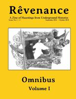 R   venance Omnibus  Vol  I  A Zine of Hauntings from Underground Histories PDF