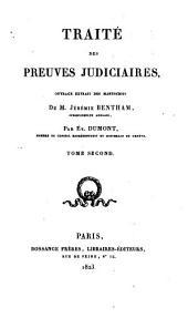 Traité des preuves judiciaires: Volume2