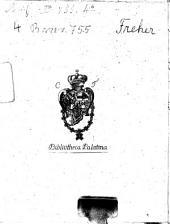 De Legitima Tvtela Cvraq. Electorali Palatina: Ex integro ad Auream Caroli IIII. Imp. Bullam Commentario Marquardi Freheri, desumtus locus