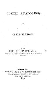 Gospel analogies, and other sermons