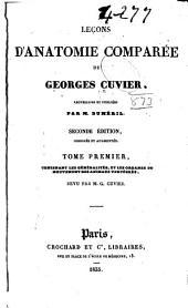 Lecons d'anatomie comparée de Georges Cuvier: Volume1