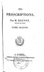 Des proscriptions: Volume2