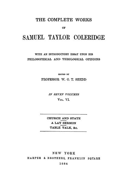 Download The Collected Works of Samuel Taylor Coleridge Book