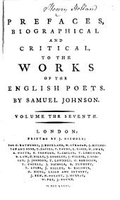 prefaces biographical and crirical to the works of the english poets