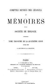 Comptes rendus hebdomadaires des séances et mémoires de la Société de biologie: Volume18