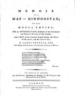 Memoir of a Map of Hindoostan PDF