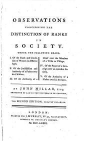Observations Concerning the Distinction of Ranks in Society