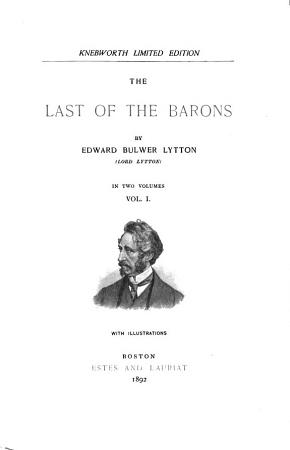 Bulwer s Novels  The last of the barons PDF