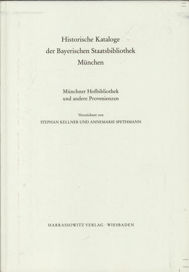 Historische Kataloge der Bayerischen Staatsbibliothek M  nchen PDF