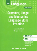 Elements of Language  Grade 12 Grammar  Usage  and Mechanics Language Skills Practice PDF
