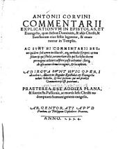 Commentarii Explicationum in Epistolas et Evangelia
