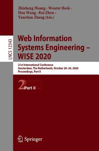 Web Information Systems Engineering     WISE 2020
