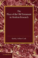 The Place of the Old Testament in Modern Research PDF