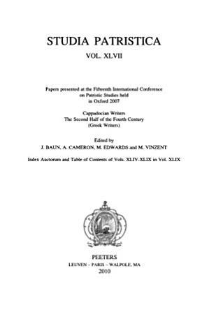 Studia Patristica  Volume XLVII PDF