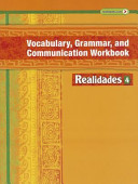 Realidades Vocabulary  Grammar and Communication Workbook 4 Book