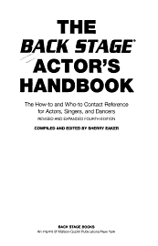 The Back Stage Actor S Handbook