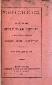 Woman's Duty to Vote