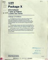 Package X: Informational Copies of Federal Tax Forms